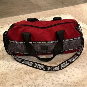 🆕PINK Logo Duffel/ Gym/ Weekender Bag